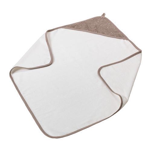 ОЛЬСКАД Полотенце с капюшоном, белый, бежевый, 30290201, IKEA, ИКЕА, A