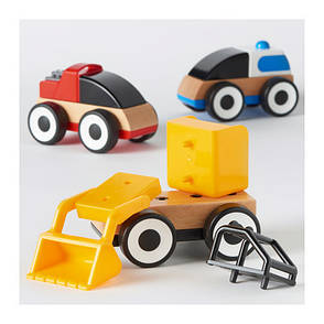 ЛИЛЛАБУ Грузовые машинки, разные цвета, 40171472,IKEA, ИКЕА, LILLABO, фото 2