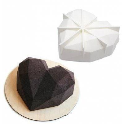 AK Diamond Love Style Mold для свадебного торта Белый, фото 2