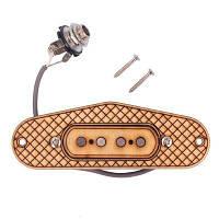 4-тактный 4-полюсный гитарный звукосниматель для коробки сигар Жёлтый