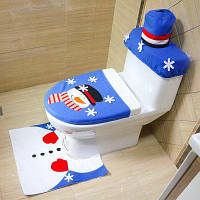 MCYH YH581 Набор для туалета чехол коврик рождественский декор Цветной