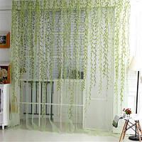 Прозрачные занавески плетеный узор 1шт Зелёный