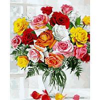 """Розы"" Картина по номерам 40Х50см"