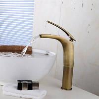 Yuda Медный кран для раковины ванной комнаты в античном стиле 63620