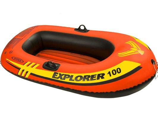 Двухкамерная надувная лодка из ПВХ Intex 58329 Човен