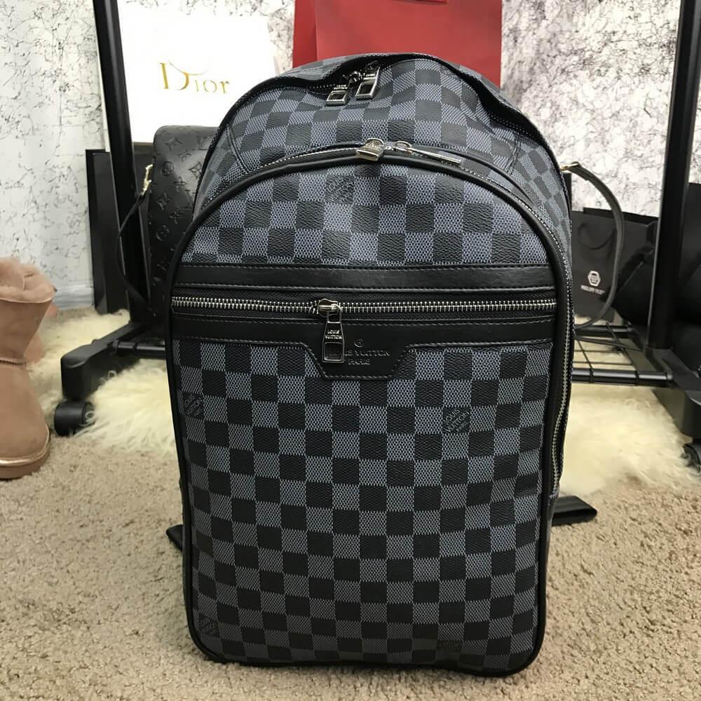 a47e21fe6651 Мужской Рюкзак Louis Vuitton x Supreme Christopher Backpack Black, Копия