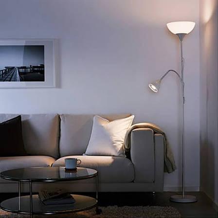 НОТ Торшер, двойной, белый, 40145124, IKEA, ИКЕА, NOT, фото 2