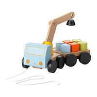 МУЛА Подьемный кран с кубиками, бук, 20294879, IKEA, ИКЕА, MULA