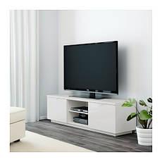 БЮОС Тумба под ТВ, глянцевый белый, 80227797, ИКЕА, IKEA, BYAS, фото 3