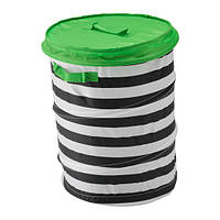 ФЛЮТТБАР Корзина c крышкой, зеленый, 90328828, ИКЕА, IKEA, FLYTTBAR
