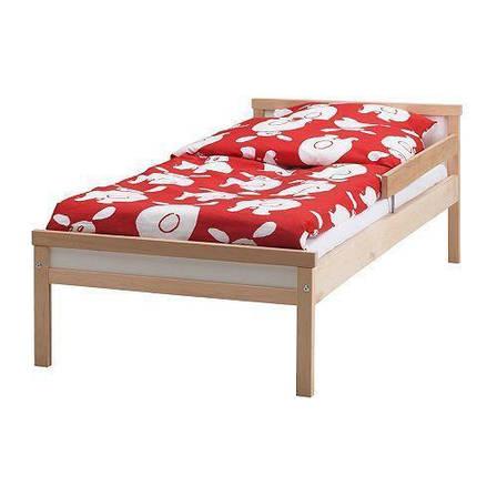 СНИГЛАР Каркас кровати с реечным дном, бук, 70x160 см, 19185433, ИКЕА, IKEA, SNIGLAR, фото 2