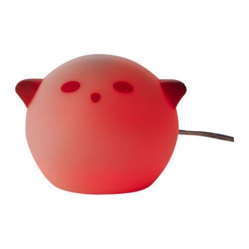 СПЁКА Светодиодный ночник, зверюшка, розовый, 90150976, ИКЕА, IKEA, SPOKA