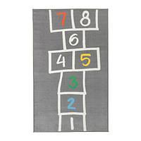ХЕММАХОС Коврик детский, серый, 100x160 см, 60356691, ИКЕА, IKEA, HEMMAHOS