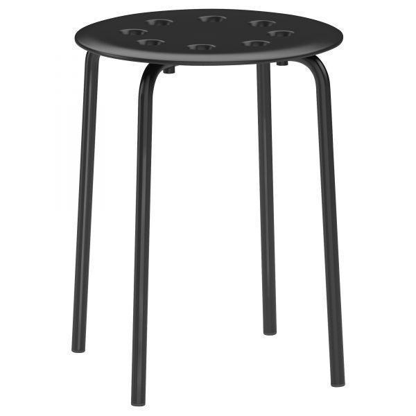 МАРИУС Табурет, черный, 10135659, ИКЕА, IKEA, MARIUS