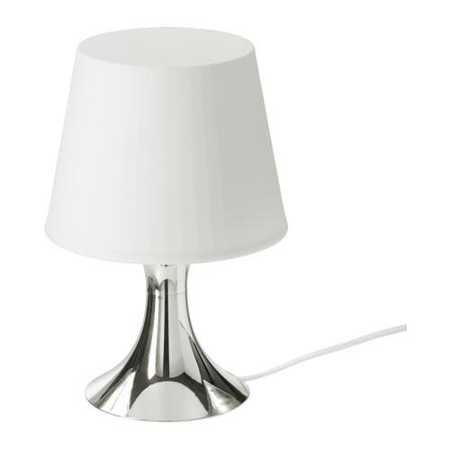 ЛАМПАН Лампа настольная, серебристый, 80356416, ИКЕА, IKEA, LAMPAN