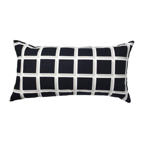 АВСИКТЛИГ Подушка, черный/белый, 30x60 см, 80345809 ИКЕА, IKEA, AVSIKTLIG