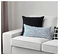 АВСИКТЛИГ Подушка, голубой/белый, 30x60 см, 40345811 ИКЕА, IKEA, AVSIKTLIG