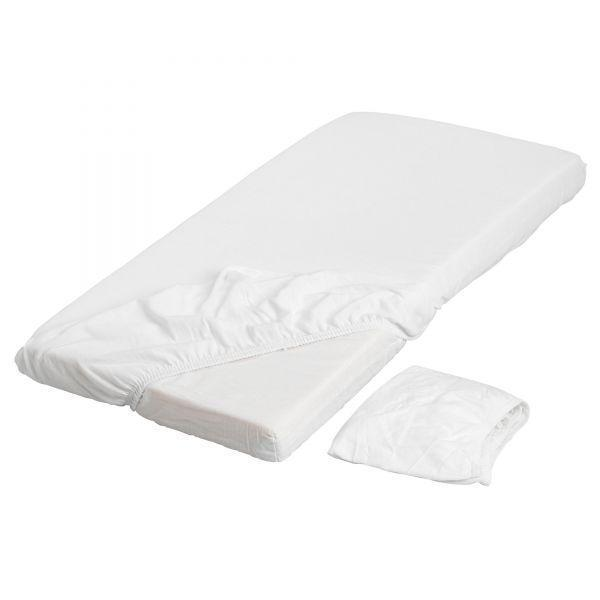 ЛЕН Простыня натяжная, белый, 70x160см, 70128613 ИКЕА, IKEA, LEN