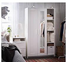БРИМНЭС Шкаф платяной 3-дверный, белый,  70245853 ИКЕА, IKEA, BRIMNES, фото 2