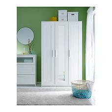 БРИМНЭС Шкаф платяной 3-дверный, белый,  70245853 ИКЕА, IKEA, BRIMNES, фото 3