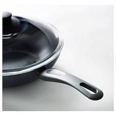 ШЭНКА Вок-сковорода c крышкой, серый, 28см, 60129463 ИКЕА, IKEA, SKANKA , фото 3