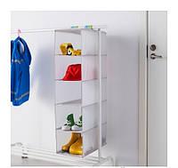 СЛЭКТИНГ Модуль для хранения с 5 отдл, серый, 40327911 ИКЕА, IKEA, SLAKTING