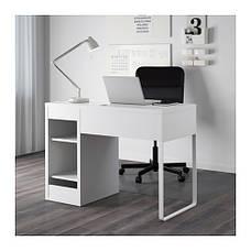 МИККЕ Рабочий стол с тумбой, белый, 80213074, ІКЕА, ИКЕА, MICKE, фото 3
