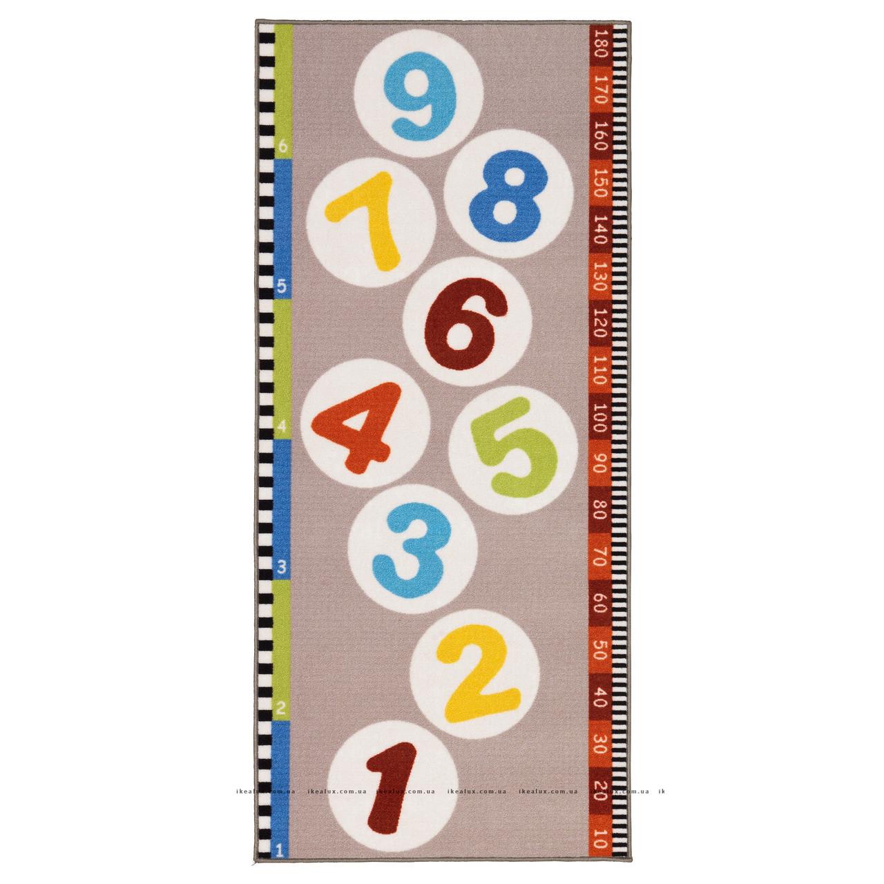 ХОППЛЕК Ковер, короткий ворс, разноцветный, 80x180см 40239957 ИКЕА, IKEA,  HOPPLEK