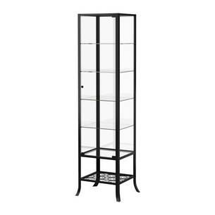 КЛИНГСБУ Шкаф-витрина, черный, прозрачное стекло, 60128562, IKEA, ИКЕА, KLINGSBO, фото 2
