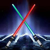 YWXLight Двусторонний RGB светодиодный лазерный меч палочки 2 шт Серебристый