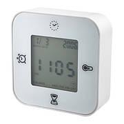 КЛОККИС Часы/термометр/будильник/таймер, белый, 80277004, ИКЕА, IKEA, KLOCKIS