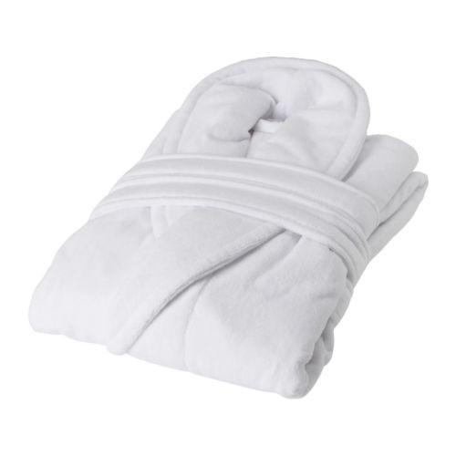 НЬЮТА, Женский халат, белый, 90100689, L/XL, ИКЕА, IKEA, NJUTA