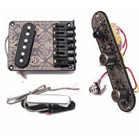 GMA09-TL хромированный бридж со звукоснимателем в наборе Чёрный