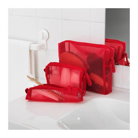 ФОРФИНА Сумочка для аксессуаров, 3 предм., красный, 50294547, ИКЕА, IKEA, FORFINA, фото 2