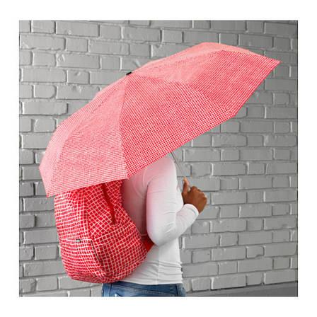 КНЭЛЛА Зонт, складной красный/белый, 90330497, ИКЕА, IKEA, KNALLA, фото 2