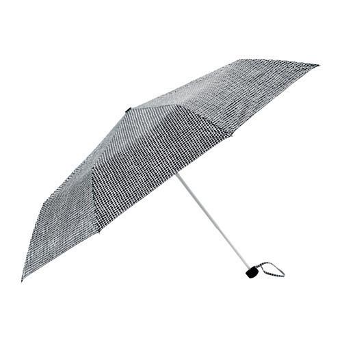 КНЭЛЛА Зонт, складной черный/белый, 30330495, ИКЕА, IKEA, KNALLA
