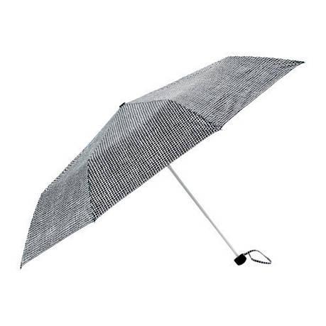КНЭЛЛА Зонт, складной черный/белый, 30330495, ИКЕА, IKEA, KNALLA, фото 2