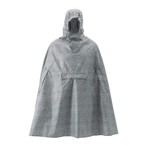 КНЭЛЛА Дождевик, черный, белый, 50330499, ИКЕА, IKEA, KNALLA