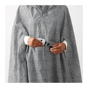 КНЭЛЛА Дождевик, черный, белый, 50330499, ИКЕА, IKEA, KNALLA, фото 2