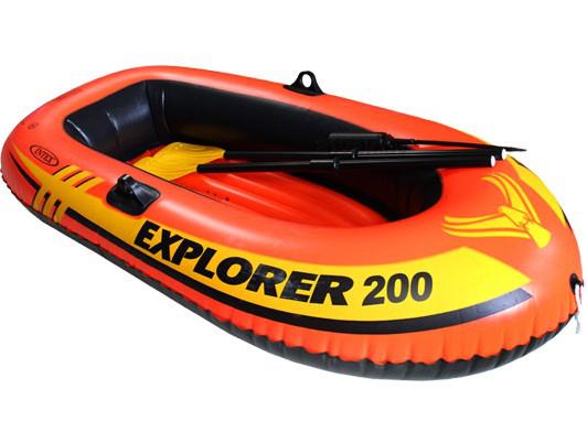 Двокамерна надувний човен з надувним дном Intex 58331 Човен