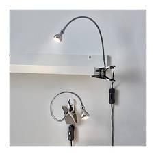 ЯНШО Лампа на прищепке, светодиодная, серебристый, 30309347, IKEA, ИКЕА, ONSJO, фото 2
