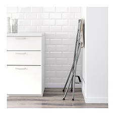 ФРАНКЛИН Стул барный, складной, белый, серебристый, 10199217, ИКЕА, IKEA, FRANKLIN, фото 3