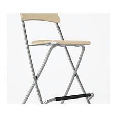 ФРАНКЛИН Стул барный, складной, березовый шпон, серебристый, 80199214, ИКЕА, IKEA, FRANKLIN, фото 2