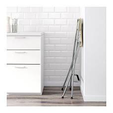 ФРАНКЛИН Стул барный, складной, березовый шпон, серебристый, 80199214, ИКЕА, IKEA, FRANKLIN, фото 3