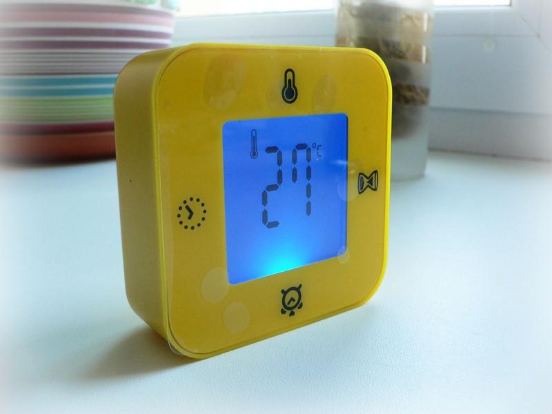 ЛОТТОРП часы/терм/буд/таймер, желтый, 102429421, ИКЕА, IKEA, LÖTTORP