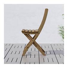 АСКХОЛЬМЕН Стул складной, серо-коричневый, 50240031, IKEA, ИКЕА, ASKHOLMEN, фото 2