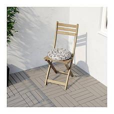 АСКХОЛЬМЕН Стул складной, серо-коричневый, 50240031, IKEA, ИКЕА, ASKHOLMEN, фото 3