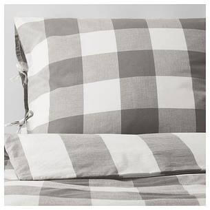 EMMIE RUTA Постельное белье, серый, белый, 30261430, ИКЕА, IKEA , фото 2
