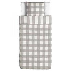 EMMIE RUTA Постельное белье, серый, белый, 30261430, ИКЕА, IKEA , фото 3