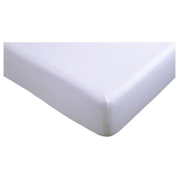 БАКНЕЙЛИКА Простыня натяжная, на резинке, белый, 160x200см, 20328638, ИКЕА, IKEA, BACKNEJLIKA